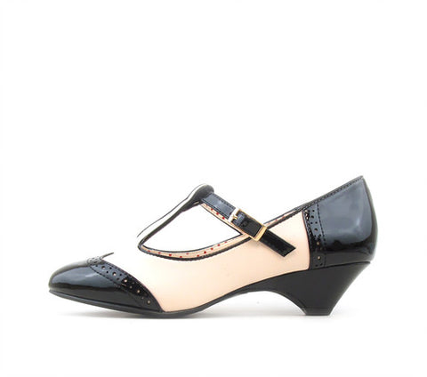 IONE Two Tone Black and White Heels