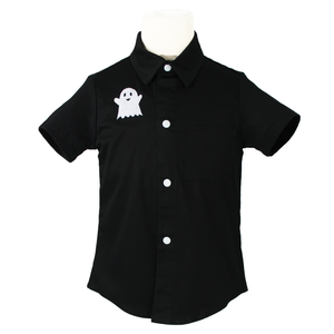 Boy's Embroidered Rockabilly Ghost Top