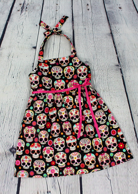 Girl's Pink Sugar Skull Dress