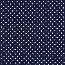 Load image into Gallery viewer, navy white polka dot