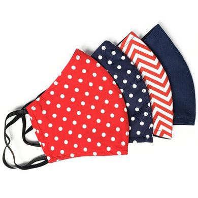 LARGE Polkadot and Chevron Face Masks With Filter Pocket