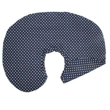 Load image into Gallery viewer, Navy Polkadots Boppy Nursing Pillow Covers - Baby Bedding