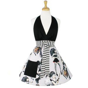 Gothic Pin Up Apron on mannequin