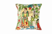 Load image into Gallery viewer, Frida In the Jungle Beige Pillow Cover - Upholstery Oxford Fabric