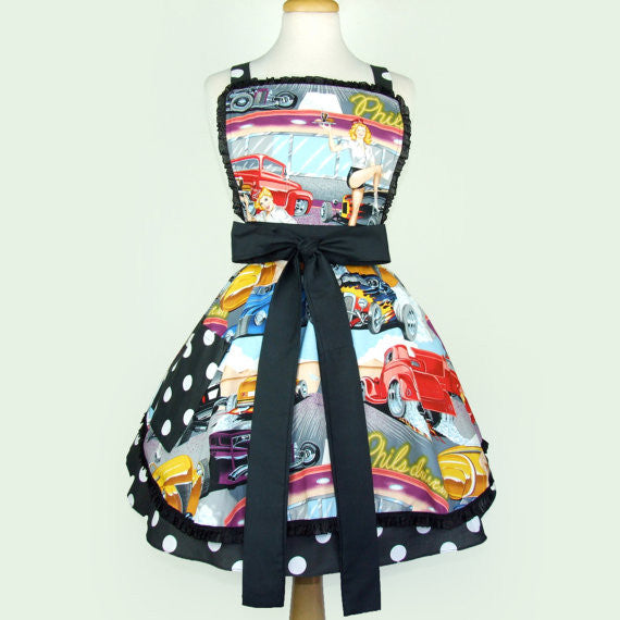 "50s Diner and Hot Rods ""Butter Me Up"" Apron"