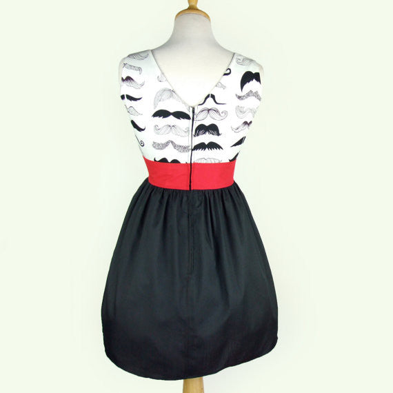 """Head Over Wheels"" Mustache Dress"