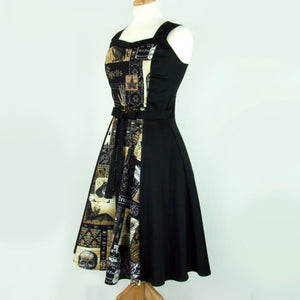 Edgar Allan Nevermore Circle Dress on mannequin