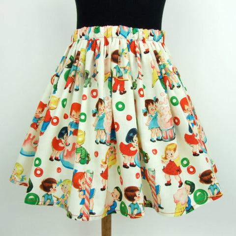 Candy and Ice Cream Girl's Skirt