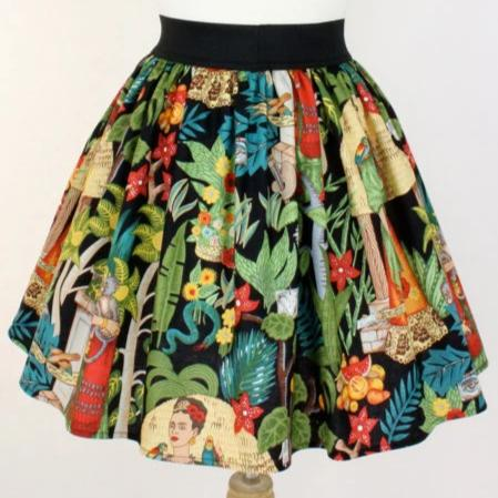 """Lindy"" Frida in The Jungle Black Skirt"