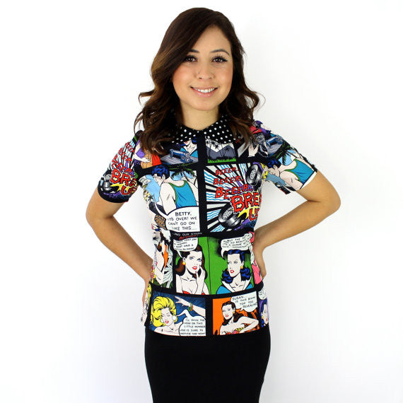 Retro Inspired Comic Strip Top