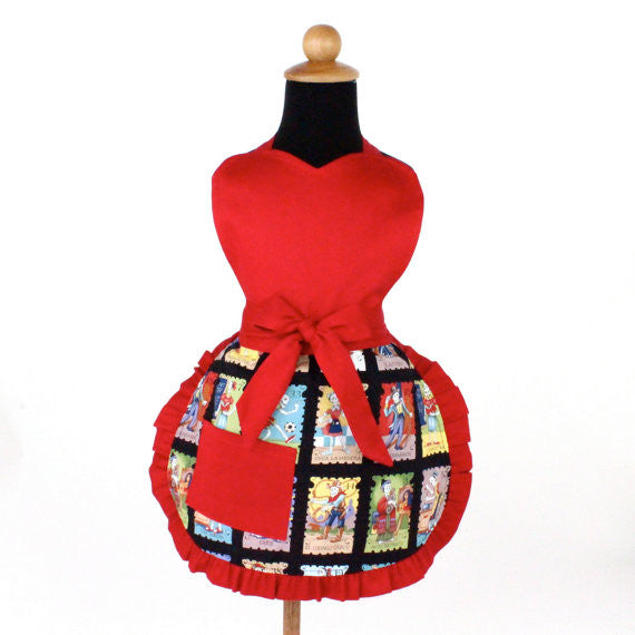 """Snack Sized"" Child's Colorful Cartas Marcadas Apron"