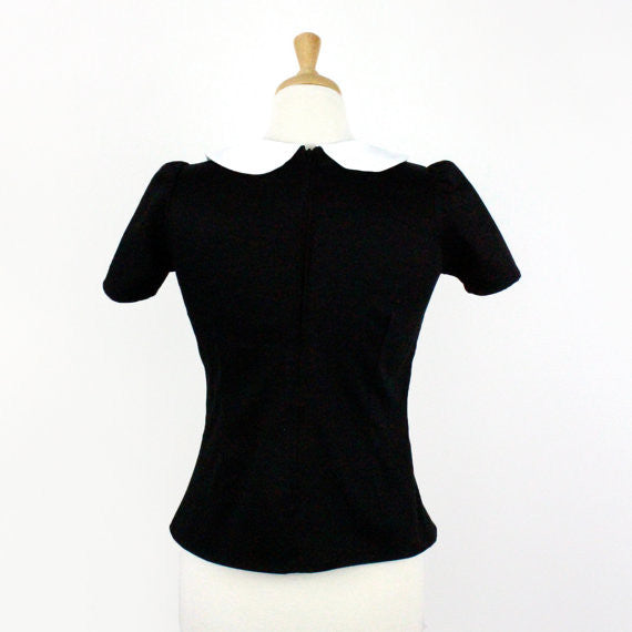 Black and White Collar Top