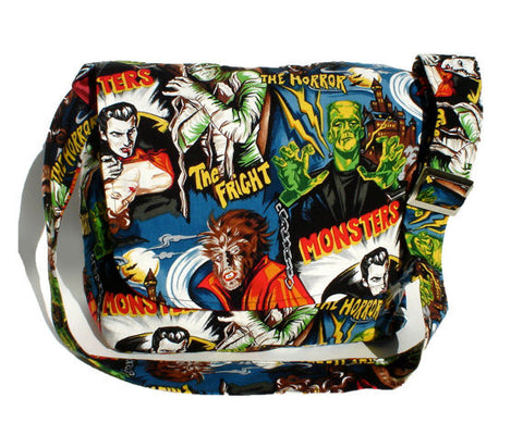 """What A Square"" Hollywood Monsters Messenger Bag"
