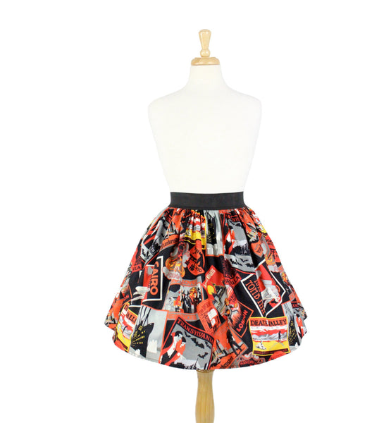Favorite Haunts A-line Pleated Skirt