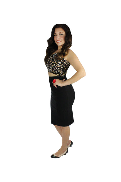 Pin up Stretchy Leopard Crop Top