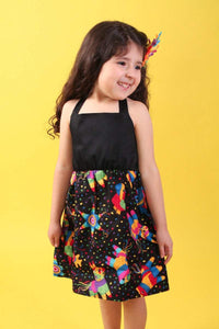 "Girl's ""Pinata"" Halter Dress, front"