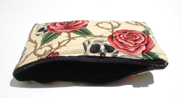 Skulls, Thorns, and Roses Wallet
