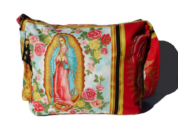 """What a Square"" Guadalupe Red Messenger Bag"