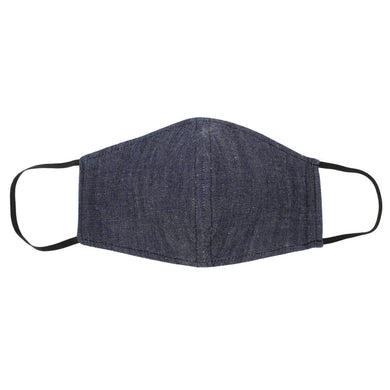 Denim Face Mask With Filter Pocket Front