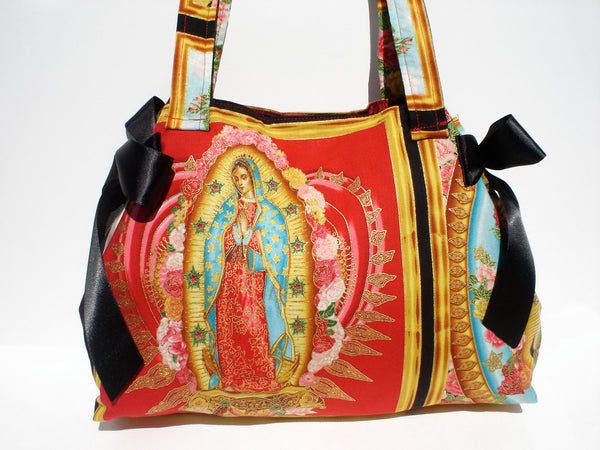 Guadalupe Panel and Bows Purse