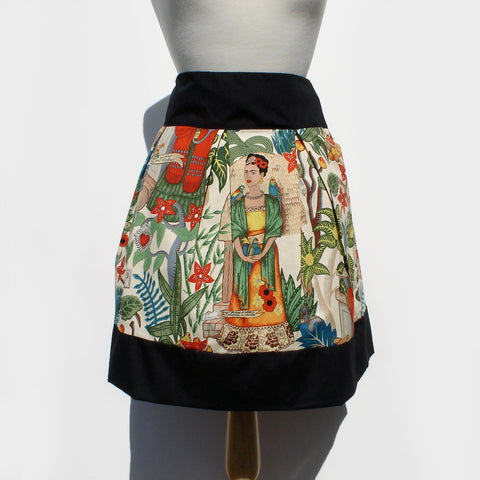 """Riding Shotgun "" Frida in The Jungle Tan Skirt"
