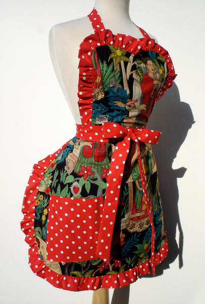 """Whisked Away"" Black Frida in The Jungle Apron"