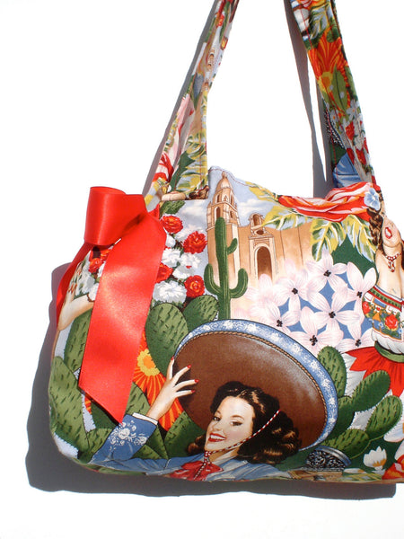 Mexican Senoritas and Bows Purse