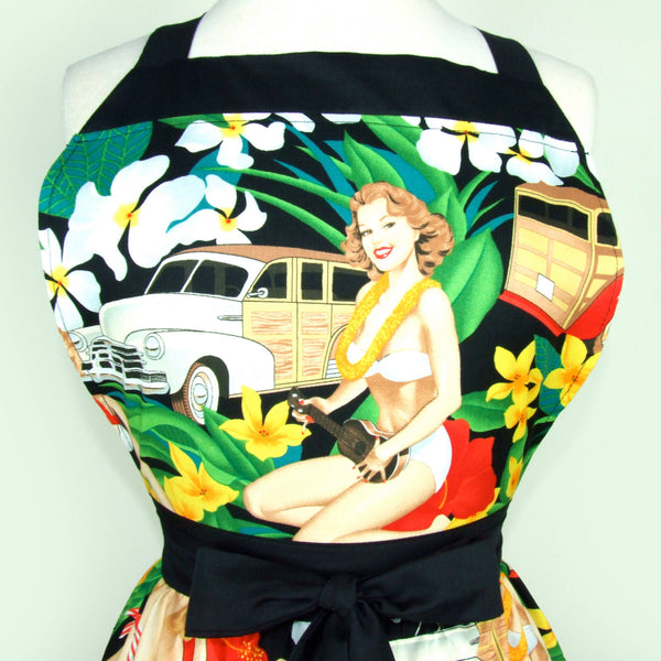 """Butter Me Up"" Hawaiian Pinup Apron"