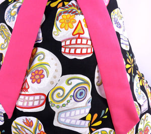 Apron on mannequin, Close up of fabric