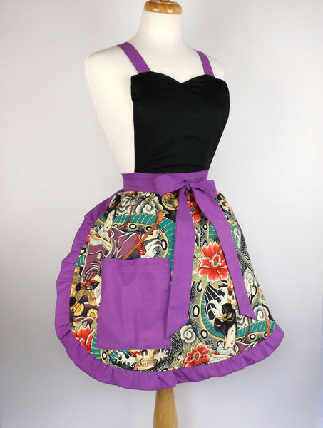 """Queen of Tarts"" Japanese Tattoo Art Apron"
