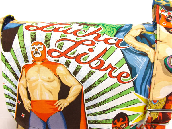 """What a Square"" Luchador Messenger Bag"