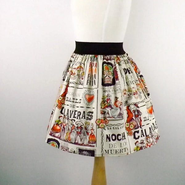 """Lindy"" Calaveras Ball Skirt"