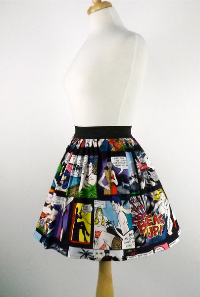 """Lindy"" Comic Strip Black Skirt"