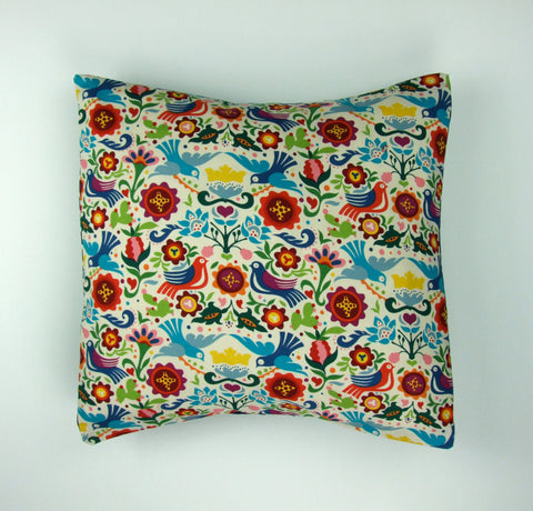 Doves and Flowers Pillow Cover Pillow Case 18 x 18