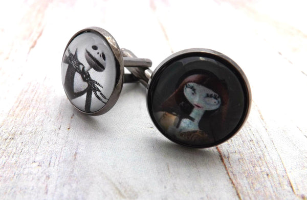 Jack Skellington and Sally Cufflinks / Nightmare Before Christmas