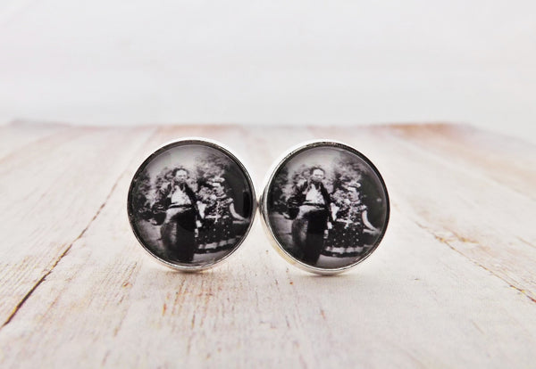 Frida Kahlo and Diego Rivera Silver Cufflinks