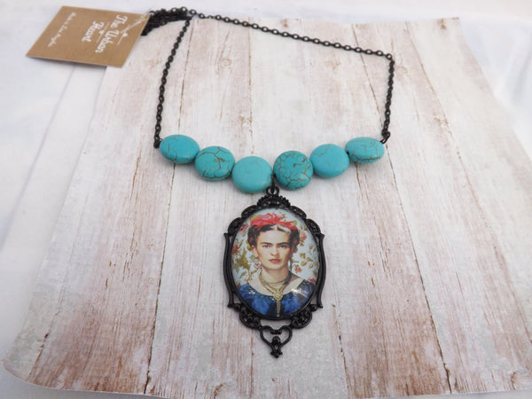 Mexican  Necklace /  Blue Necklace