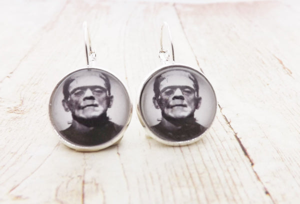 Rockabilly Pinup Frankenstein Earrings