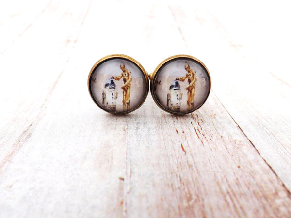 Starwars C-3PO R2-D2 Cufflinks/ Cufflinks /  Men's Cuff links