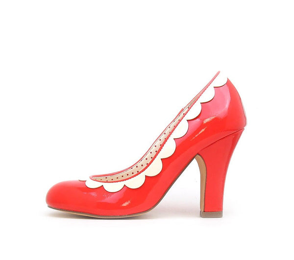 VARAH Poppy Red Retro Heels