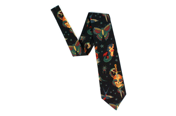 Rockabilly Tattoo Art Men's Tie
