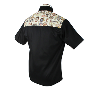Barbershop Vintage Western Top in Black and Cream