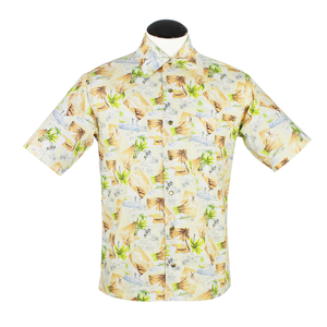 Men's Vintage Inspired Tropical Short Sleeve Shirt