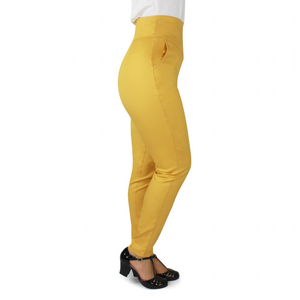 Mustard High Waist Cigarette Pants