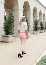 Load image into Gallery viewer, Classic Pink High Waist Cigarette Pants