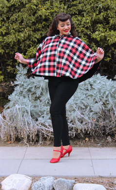 Vintage Inspired Flannel Cape
