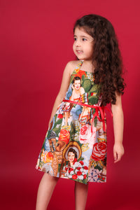 "Girl's ""Senoritas"" Dress, side"