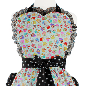 """Butter Me Up"" Mint Spring Cupcake Apron"