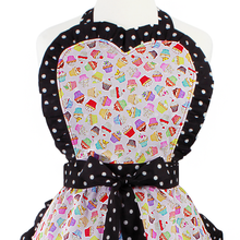 "Load image into Gallery viewer, ""Butter Me Up"" Pink Spring Cupcake Apron"