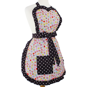 """Butter Me Up"" Pink Spring Cupcake Apron"